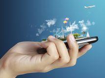 mobil, smartfón, telefón, poistenie, internet, wifi, ruka, komunikácia, lietadlo, cestovanie