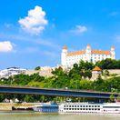 Dunaj, Bratislava, Bratislavský hrad, lode, parlament, NR SR, most SNP,