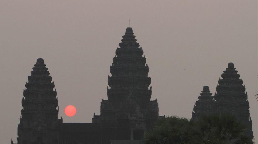 Kambodža, Angkor Vat, chrám, turisti, Siem Reap