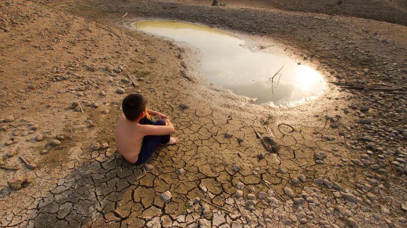púšť, voda, sucho, dieťa, otepľovanie,...