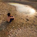 púšť, voda, sucho, dieťa, otepľovanie, klimatické zmeny