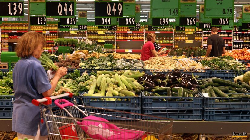 obchod, nákup, zelenina, slovenské potraviny