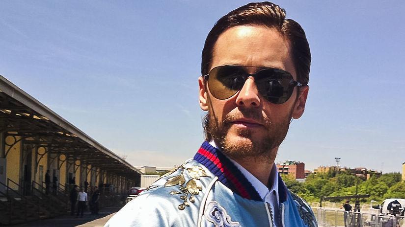 Herec Jared Leto po prehliadke značky Gucci v...