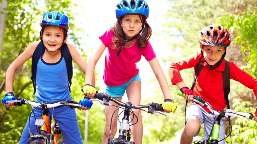deti, bicykel, cyklistika, bicykle, prilby,...