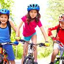 deti, bicykel, cyklistika, bicykle, prilby, bezepčnosť, šport, aktivita, leto