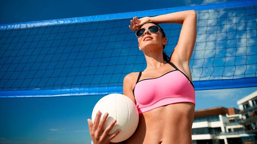 leto, letná dovolenka, more, šport, volejbal,...