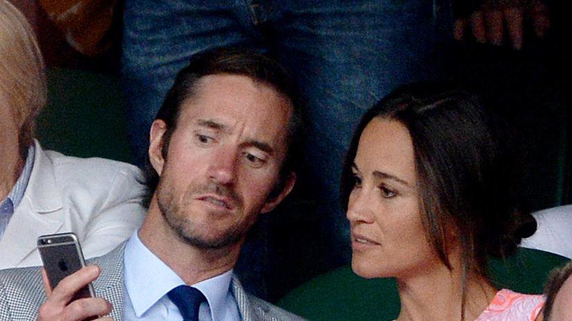 Pippa Middleton a jej snúbenec James Matthews