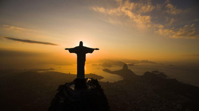 Brazília, Rio de Janeiro, socha Krista...