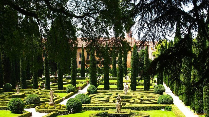 Giardino Giusti, Verona, Taliansko, záhrada,...