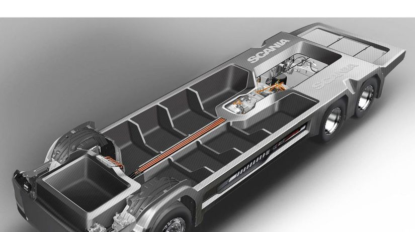 Scania - karbónový podvozok