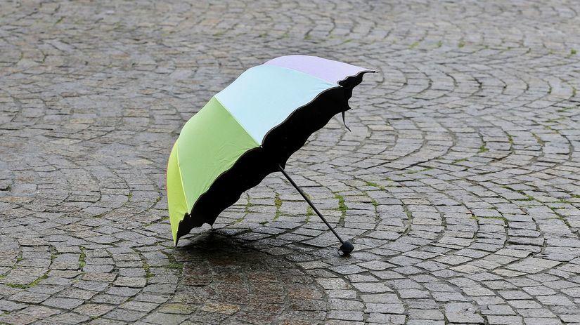 dáždnik, počasie, dážď, prší, pršanie