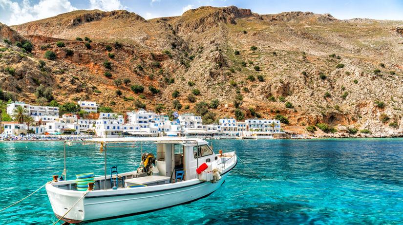 Kréta, dovolenka, leto, čln, loď, more,...