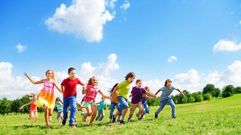 deti, lúka, zábava, radosť, príroda