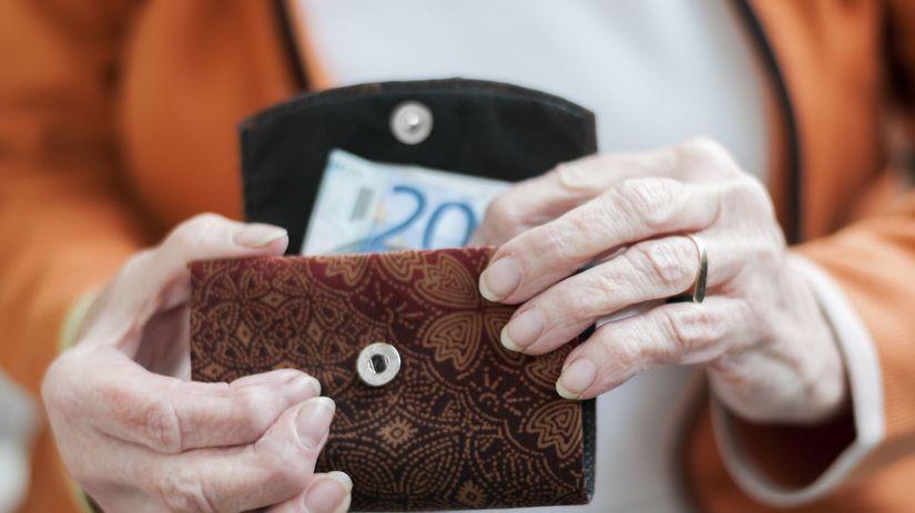 peniaze, dôchodok, peňaženka, euro