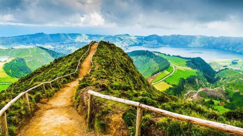 Azory, chodník, cestička, Sete Cidades, jazerá