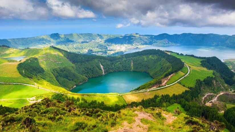Azory, ostrovy, kráter, jazero, jazerá,