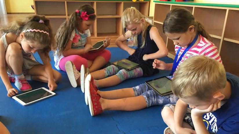 deti, tablet, škola, učenie, matematika
