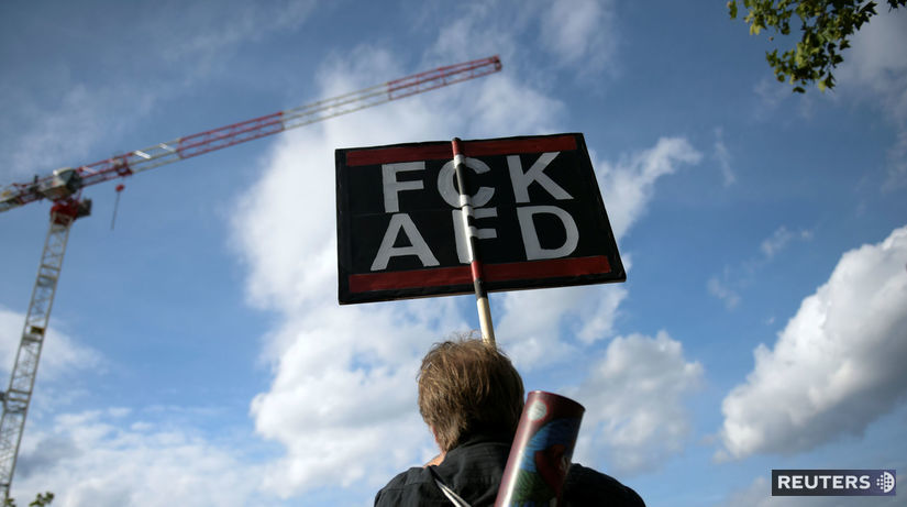 berlín, nemecko, protest, afd
