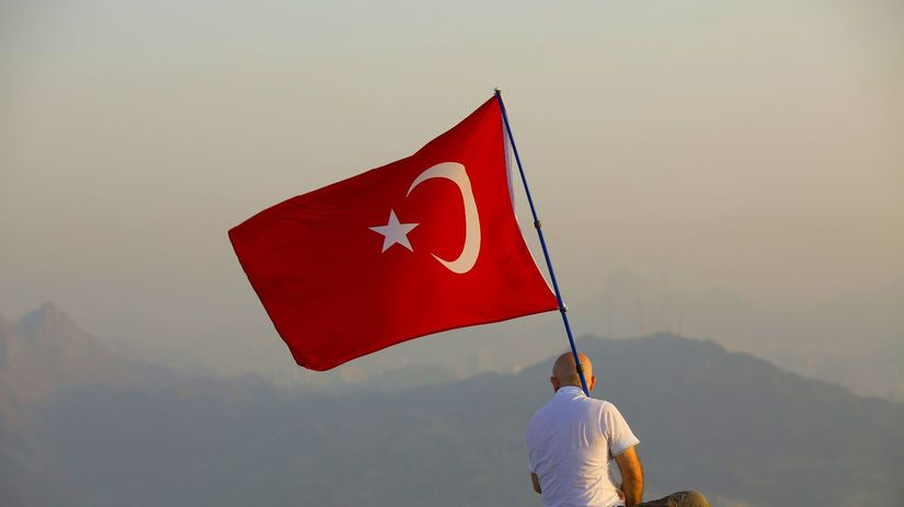 Turecko, vlajka, vojak, zástava, turecká...