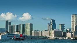 Hongkong, Kawloon, mesto, more, loď,