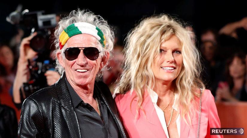 Keith Richards a jeho manželka Patti Hansen