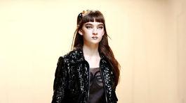 Modelka v kreácii značky Fendi z kolekcie na jar a leto 2017.