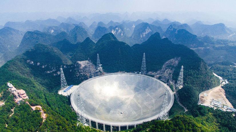 čína, teleskop