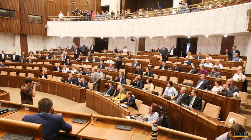 parlament, odvolavanie Fica, rokovacia sala,...