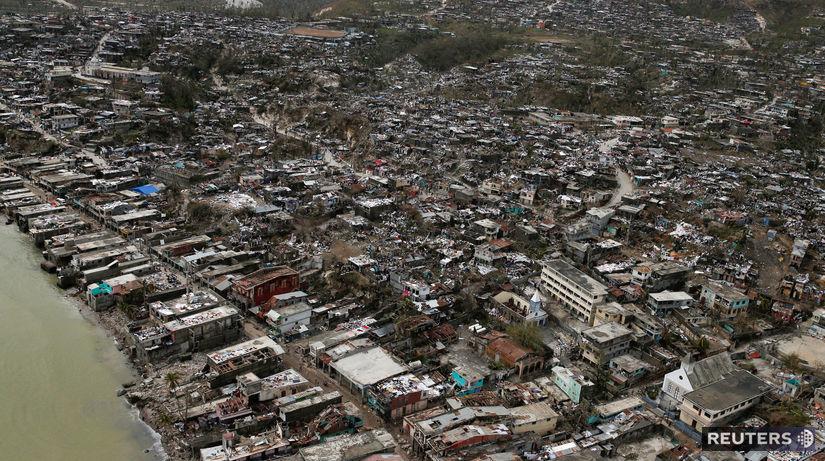 Hurikán Matthew, Haiti, hurikán, zničená...