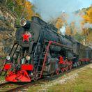 Transsibírsky expres, Transsib, magistrála, vlak, červená hviezda, parná lokomotíva