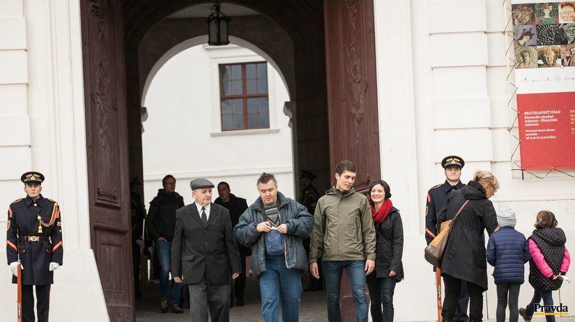 rozlúčka, prezident, hrad, Michal Kováč