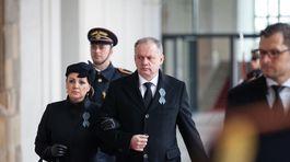 Andrej Kiska, pohreb Michala Kováča