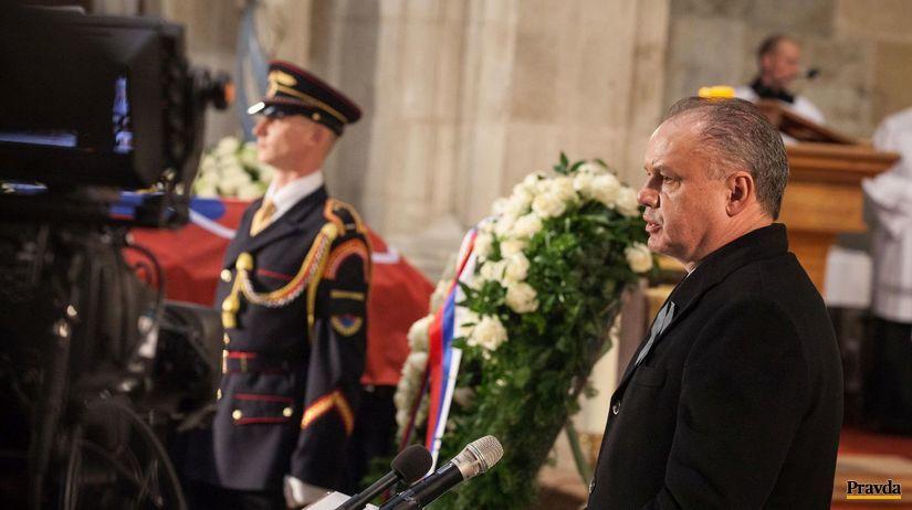 Andrej Kiska, pohreb Michala Kováša