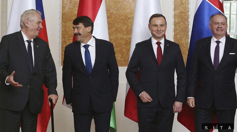 Miloš Zeman, Janos Ader, Andrzej Duda,  Andrej...