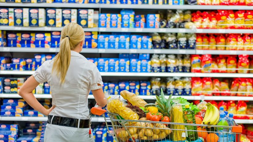 obchod, potraviny, nákup, jedlo
