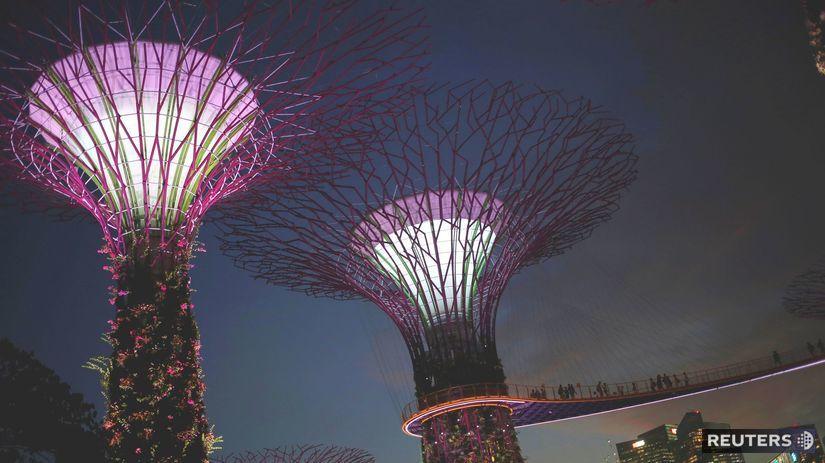 Singapur, stromy,
