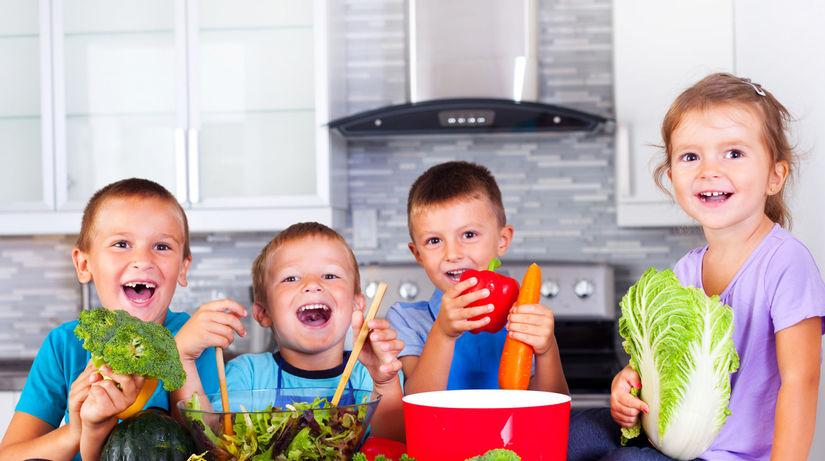 deti, škola, zdravie, zelenina, jedlo