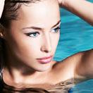 kúpele, relax, žena, bazén, kúpanie, plávanie, dovolenka, voda, umývanie, kúpeľ, vlasy