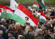 maďarsko, protest, demonštrácia, 60.výročie protikomunistického povstania,