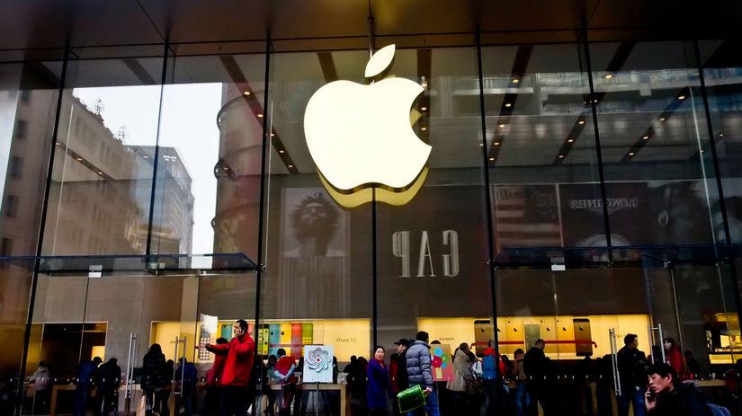 apple, budova, ľudia