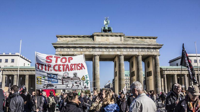 protesty, ceta, kanada, belgicko