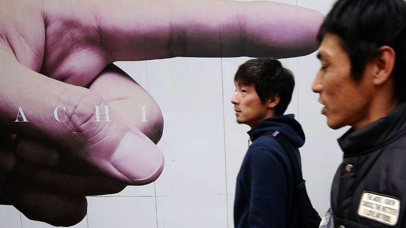 Japonsko, ruka prst, ukazuje