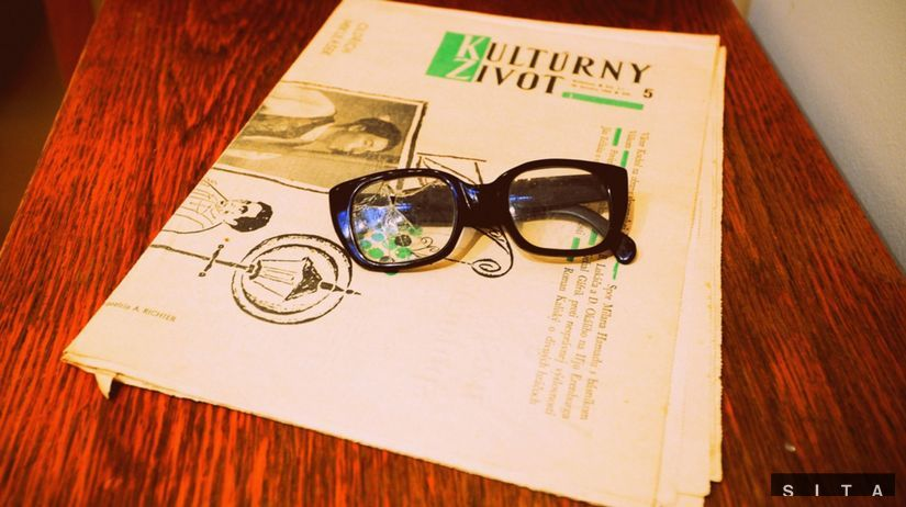 okuliare, časopis, retro, kultúrny život