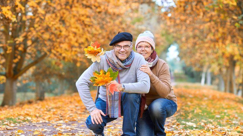 dôchodok, penzia, jeseň, les, stromy, lístie,...