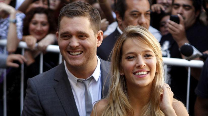 Michael Buble a jeho manželka Luisana Lopilato