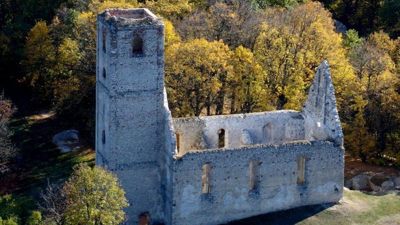 katarínka, ruiny, kostol,