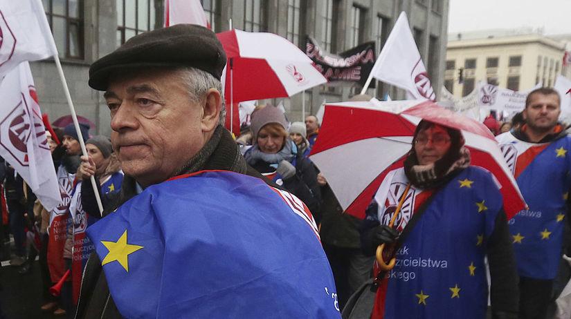 poľsko, protest, učitelia