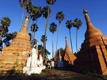 Mjanmarsko, stupy