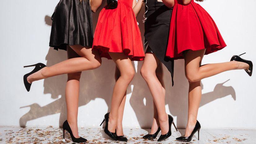 nohy, ženy, sukne, podpätky