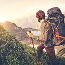 turista, turistika, hory, cestovanie, ruksak, kopce, údolie, dolina, dovolenka